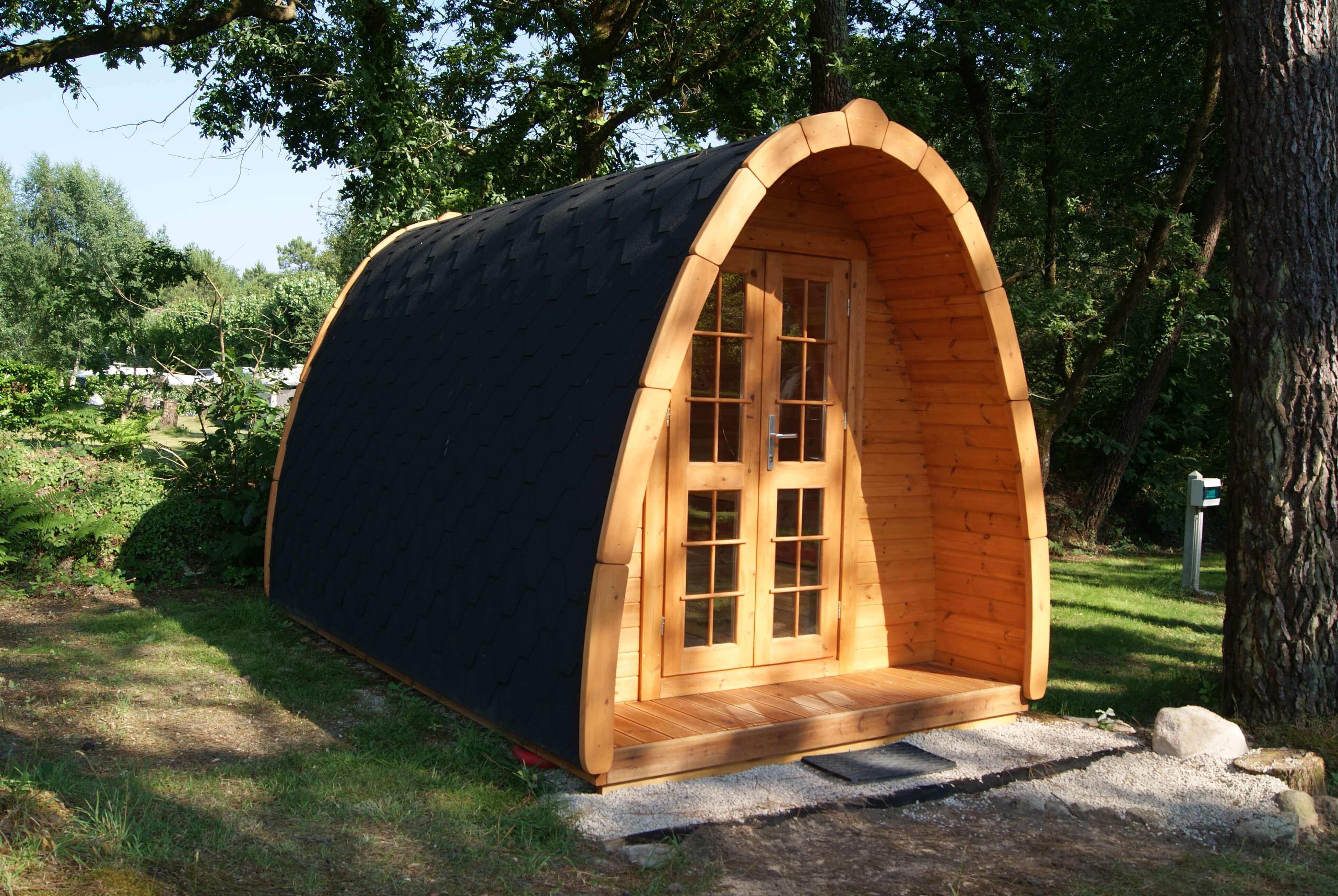 cabane en bois pod extérieur-camping de kergo-carnac-auray-ploemel-morbihan