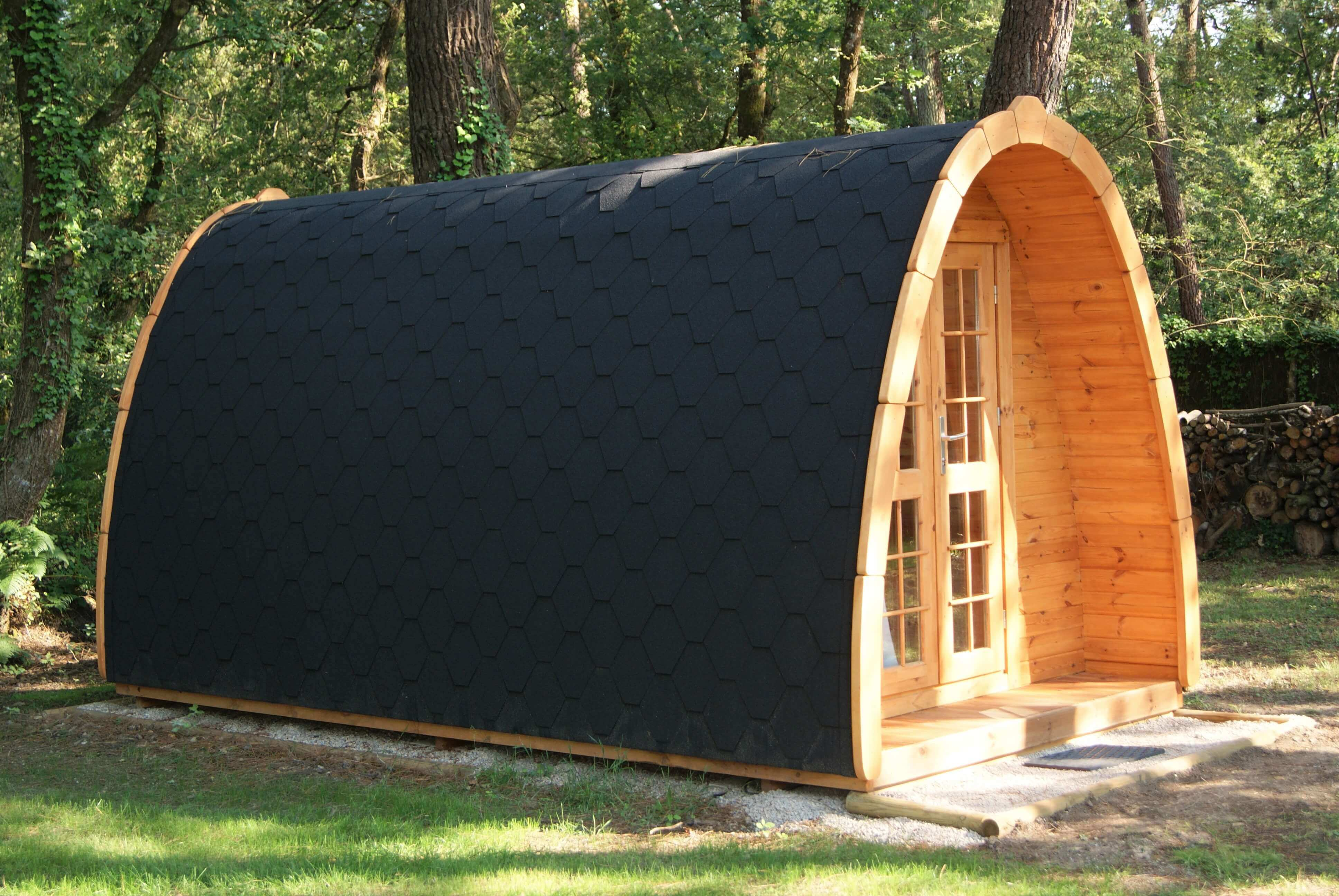 cabane en bois pod extérieur camping de kergo nature-carnac-auray-ploemel-morbihan
