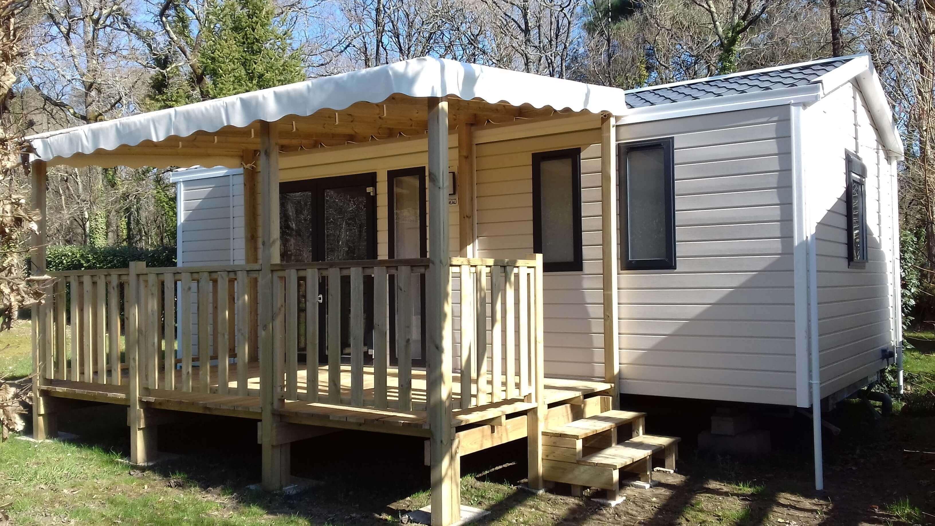 mobilhome 2 chambres confort bahia neuf, morbihan, carnac,auray
